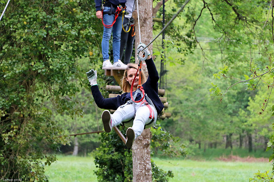 camping activite accrobranche